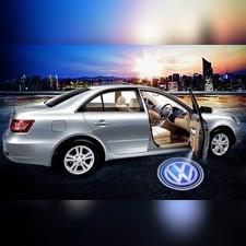 Габаритные светоотражатели в двери с проекцией логотипа, 2 части OEM-Tuning Volkswagen Jetta