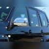 Накладки на зеркала Toyota Land Cruiser Prado 120 2003 - 2009 (полированная нержавеющая сталь)