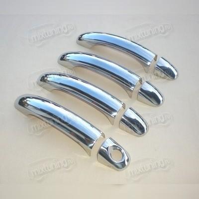 Накладки на дверные ручки Volkswagen Touareg 2002 - 2009 (нержавеющая сталь)