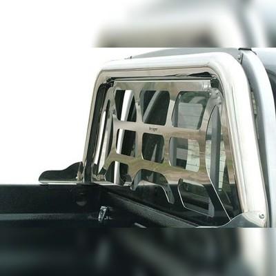"""Защитная дуга в кузов 76 мм с декоративной решеткой и логотипом """"FORD"""""""