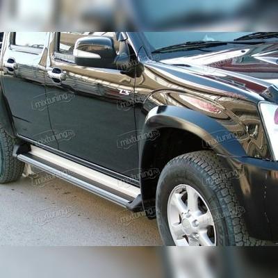 """Комплект алюминиевых порогов (серебристого цвета) модель """"ANATOLIA SILVER"""""""