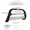 Передняя защита 60 мм из стального корпуса покрытая полиуретаном