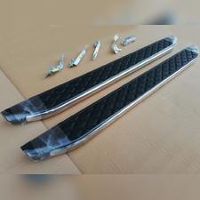 """Комплект алюминиевых порогов с пластмассовой накладкой, модель """"HITIT"""""""