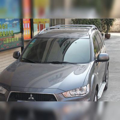 Багажник на рейлинги (аэродинамический) цвет серебристый