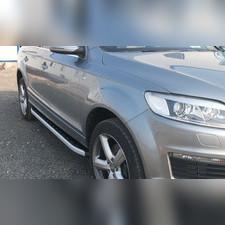 """Пороги, подножки, ступени Audi Q5 2008 - нв, модель """"Alyans"""""""