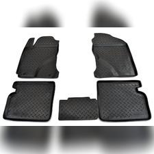 Коврики в салон (черные) Toyota Corolla 2000 - 2008
