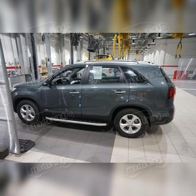 "Пороги, подножки, ступени Kia Sorento 2009 - 2012, модель ""Alyans"""