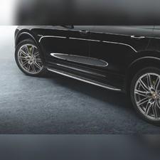 Комплект порогов Porsche Cayenne II 2010 - 2018 (копия оригинала - OEM Style)