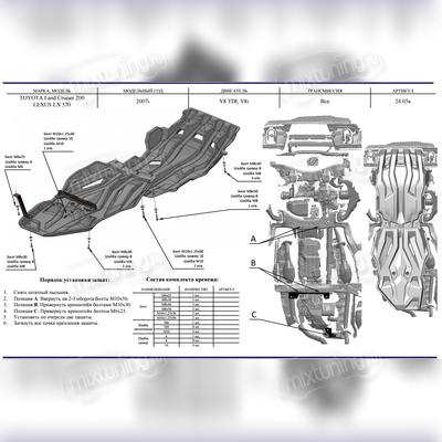 Защита картера + АКПП + РК 2 части (Композит 10 мм)
