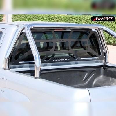 """Защитная дуга в кузов, модель """"DELUXE"""" 70 мм, с защитой заднего стекла кабины"""