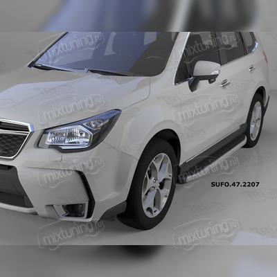 """Пороги, подножки, ступени Subaru Forester 2012 - 2018, модель """"Alyans"""""""