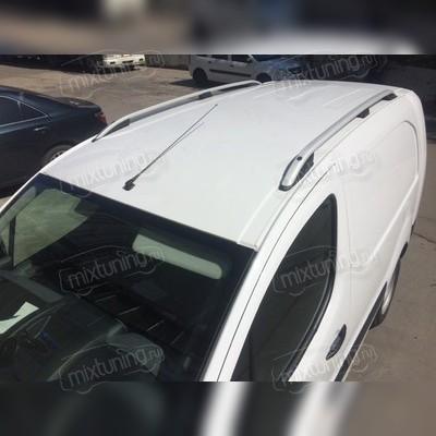 Рейлинги алюминиевые Peugeot Partner Tepee 2008 - нв (серебристого цвета)