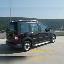 Рейлинги алюминиевые на Volkswagen Caddy 2010-2019 (серебристые)