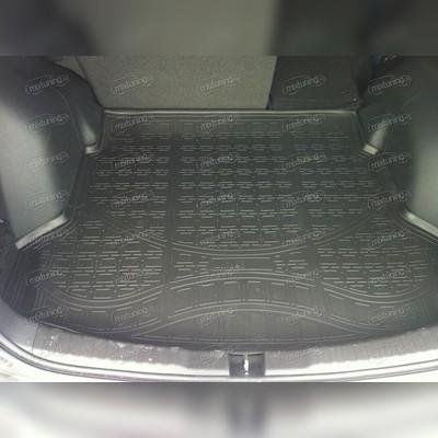 Коврик в багажника с бортом (черный)