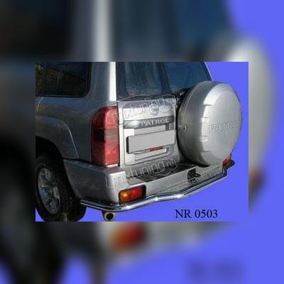 Защита заднего бампера 60 мм с подножкой
