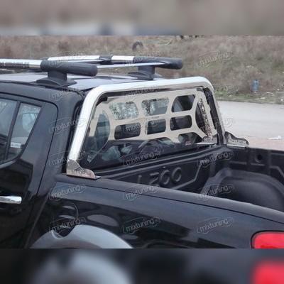 Защитная дуга в кузов 70 мм с декоративной решеткой c логотипом