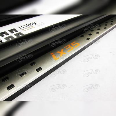 комплект алюминиевых порогов с логотипом IX35