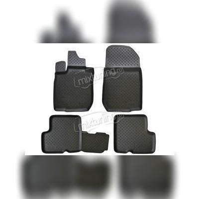 Комплект оригинальных ковриков в салон цвет черный полиуретан