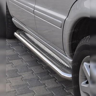 """Комплект порогов из полированной нержавеющий стали, модель """"Hector"""" (диаметр 60 мм)"""