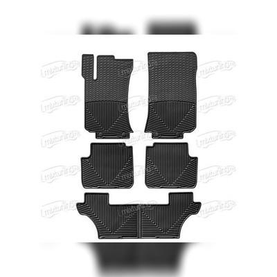 Комплект резиновых ковриков цвет черный
