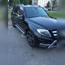 Пороги, подножки, ступени Mercedes-Benz GLK-class 2010 - 2015 (копия оригинала - OEM Style)