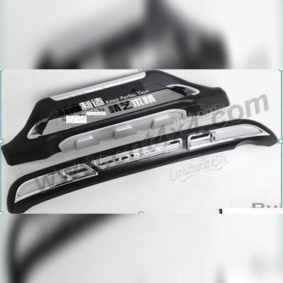 Комплект накладок на передний и задний бампер пластик ABS