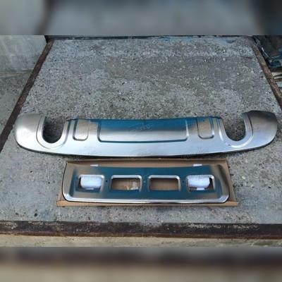 Комплект накладок на передний и задний бампер