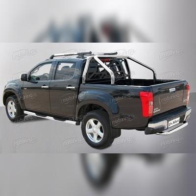 """Защитная дуга в кузов с защитой заднего стекла, модель """"Delux"""" d70 мм"""