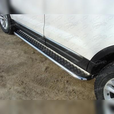 Пороги 60 мм с алюминиевой площадкой