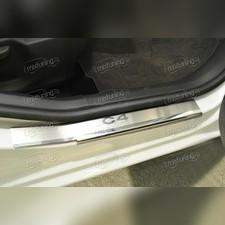 """Накладки на пороги с названием модели автомобиля, серия """"Premium"""" (нержавеющая сталь)"""