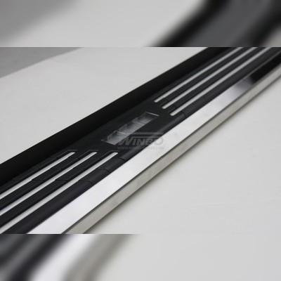 Подножки боковые алюминий нержавеющая сталь 64мм