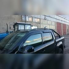 Рейлинги алюминиевые Volkswagen Amarok 2010-нв (черного цвета)