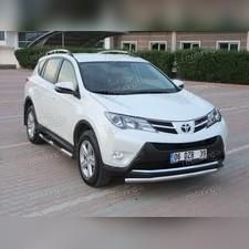 "Защита переднего бампера Toyota Rav 4 2015-2019 , модель ""Труба"" 60 мм"
