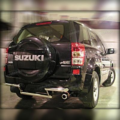 Защита заднего бампера 60+53 мм (для 5-и дверного авто)