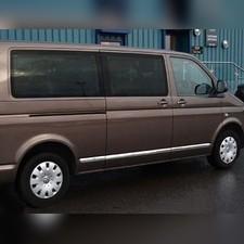 Молдинг дверной Volkswagen T5 Transporter 2003 - 2009 нержавеющая сталь (длинная база) 7 шт