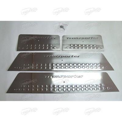 Накладки на дверные пороги с надписью TRANSPORTER(широкие)(нержавейка)