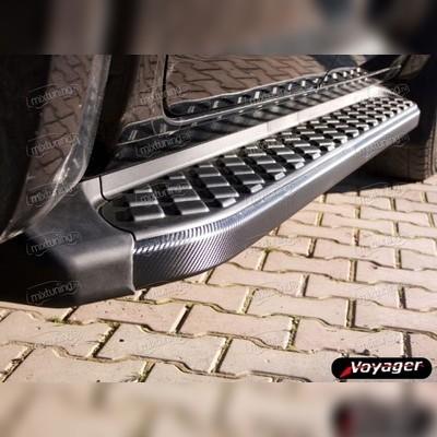"""Комплект алюминиевых порогов, модель """"HITIT CARBON"""" для модели XL7"""