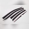 Дефлекторы, ветровики окон, комплект из 6-ти частей (темные с хром молдингом)