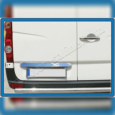 Накладка над номером на крышку багажника (нержавейка)