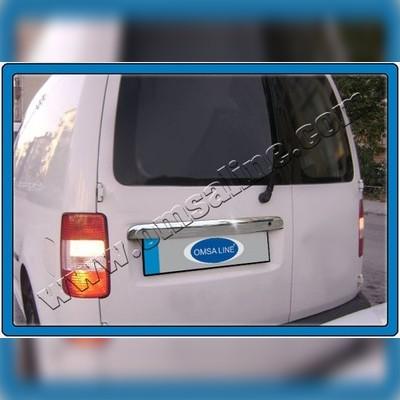 Накладка над номером на крышку багажника с надписью (нержавейка)