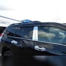 Нижние молдинги стекол Toyota Land Cruiser Prado 150 2009 - 2020 (нержавейка)