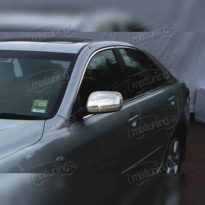 Накладки на зеркала Toyota Camry 2006 - 2011 (нержавеющая сталь)