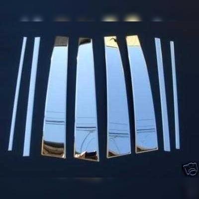 Накладки на стойки дверей Toyota Land Cruiser Prado 150 2009 - нв (нержавеющая сталь)
