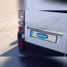 Накладка над номером на крышку багажника (нержавеющая сталь)