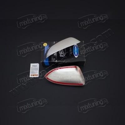 Накладки на зеркала Skoda Octavia 2 A5 рестайлинг (нержавеющая сталь)
