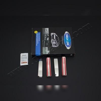 Накладки на дверные ручки, комплект 4 штуки (полированная нержавеющая сталь)