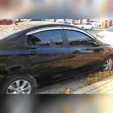 Дефлекторы боковых окон (хром) Sedan