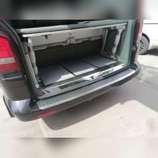 Накладка на задний бампер Volkswagen T5 Multivan 2003 - 2015 (шлифованная)