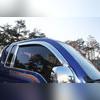 Дефлекторы боковых окон, хром