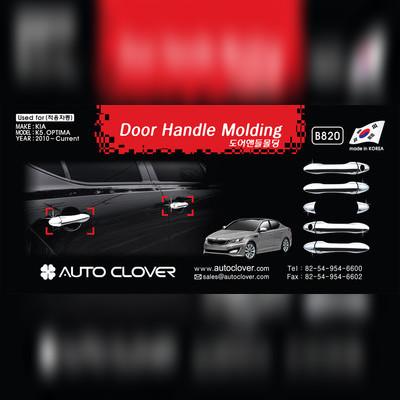 Комплект накладок на дверные ручки (хром)